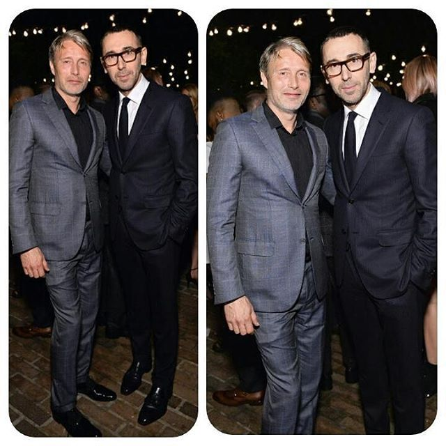 2016 GQ Men of the Year Party - Inside  Actor Mads Mikkelsen and Alessandro Satori, Creative Director for 'Z Zegna' [Luxury Italian Menswear Designer] attend the 2016 GQ Men of the Year Party at Chateau Marmont on December 8, 2016 in Los Angeles, California. @GettyImages #MadsMikkelsen #ZZegnaCreativeDirector #AlessandroSator i#GQ #GQMenoftheYearParty2016 #ChateauMarmont #LosAngeles #California