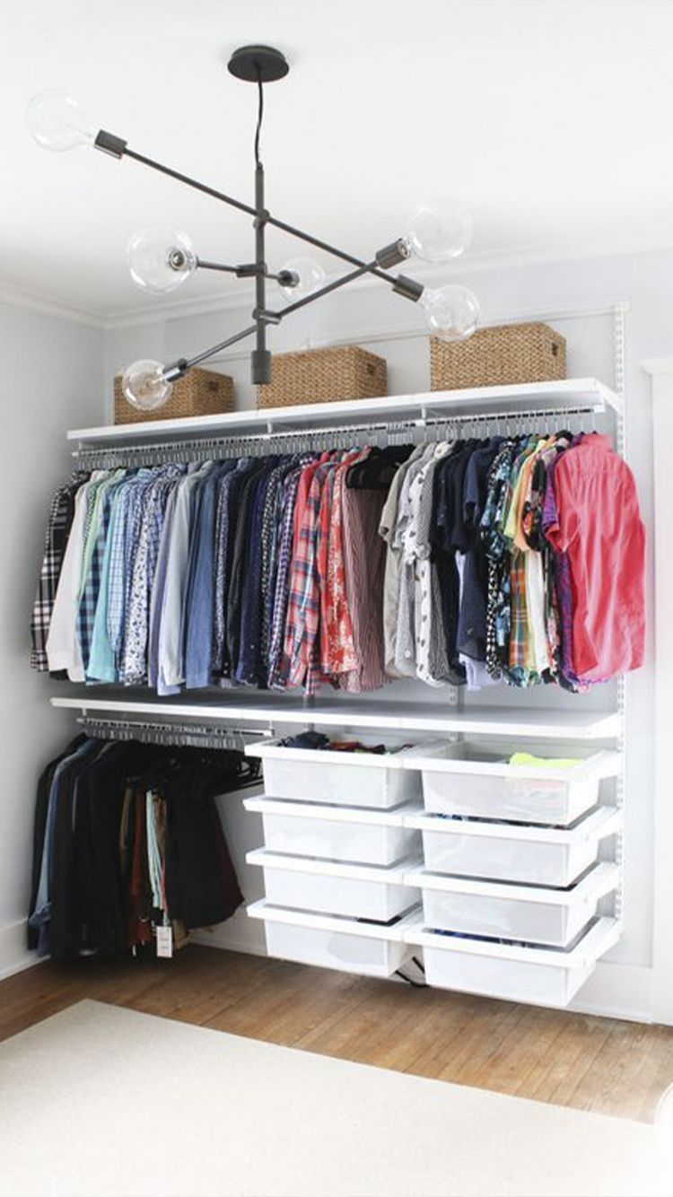 Organizing Solutions For The Closet Less Lady No Closet Solutions Small Apartment Decorating Small Apartments