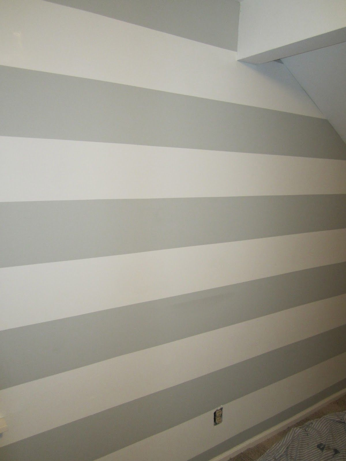 Striped Wall in Grays