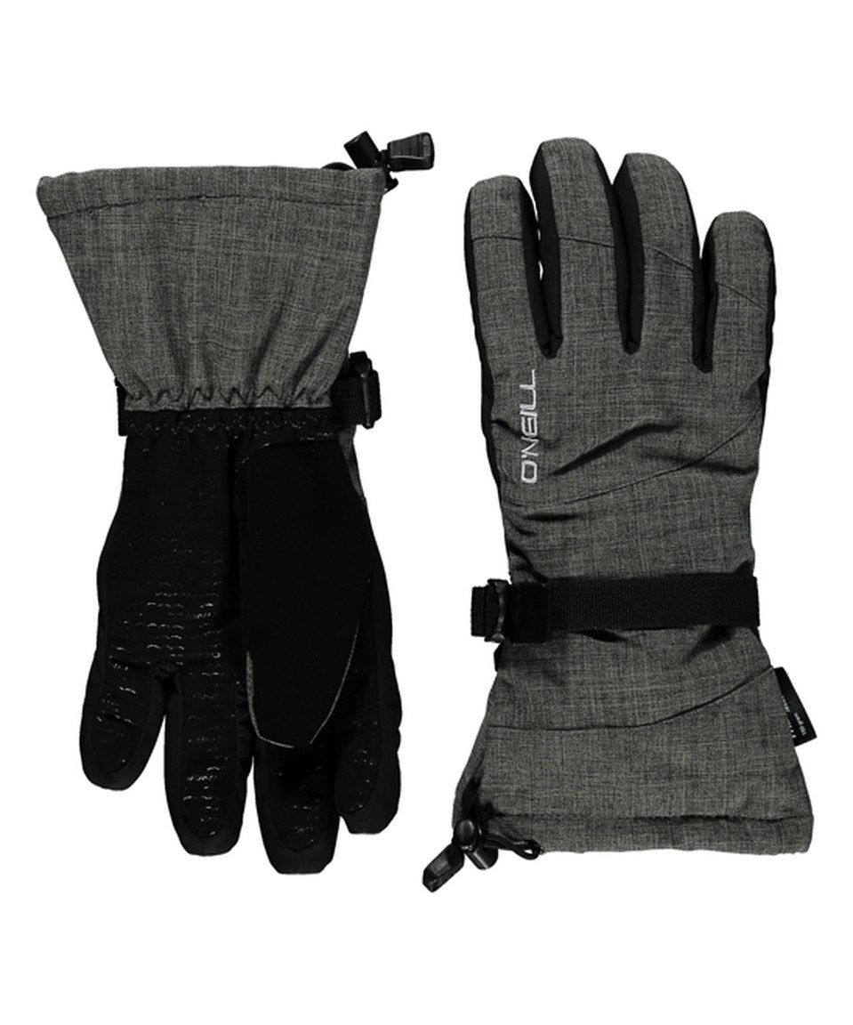 Loving this O'Neill Black & Charcoal Freedom Ski Gloves on #zulily! #zulilyfinds