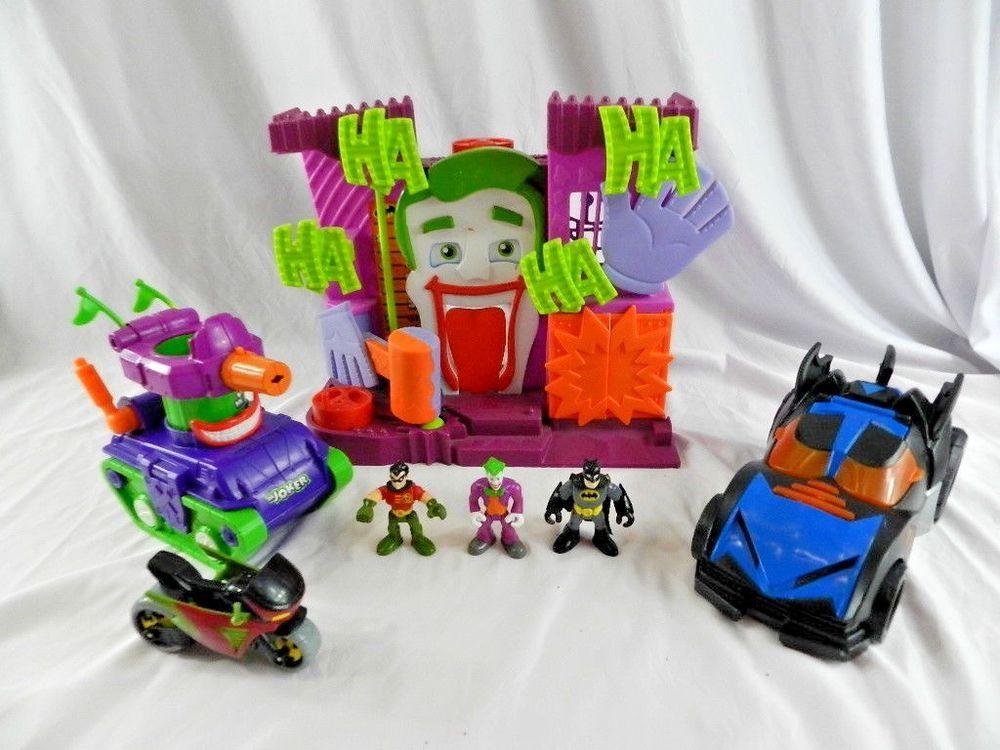 Imaginext Lot Joker's Fun House Batman Batmobile Robin