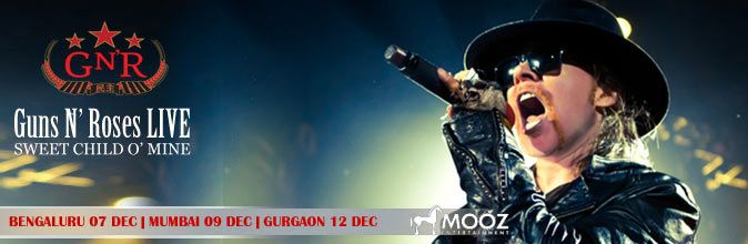 Guns N' Roses are widely hailed as the greatest hard rock band of all time. Their iconic songs, 'Sweet Child O' Mine', 'November Rain' and 'Don't Cry' are some of the most well-known rock songs ever written.   Ticket Category & Pricing :   • Silver Ticket - INR 1500  • Gold Ticket - INR 3000  • Platinum Ticket - INR 10000