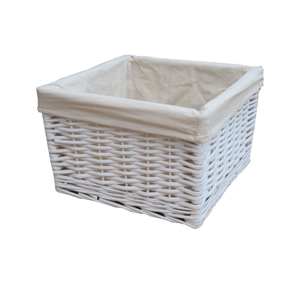 Wicker storage basket home storage baskets melbury rectangular wicker - Find This Pin And More On Storage Baskets Made From Willow This White Wicker Basket