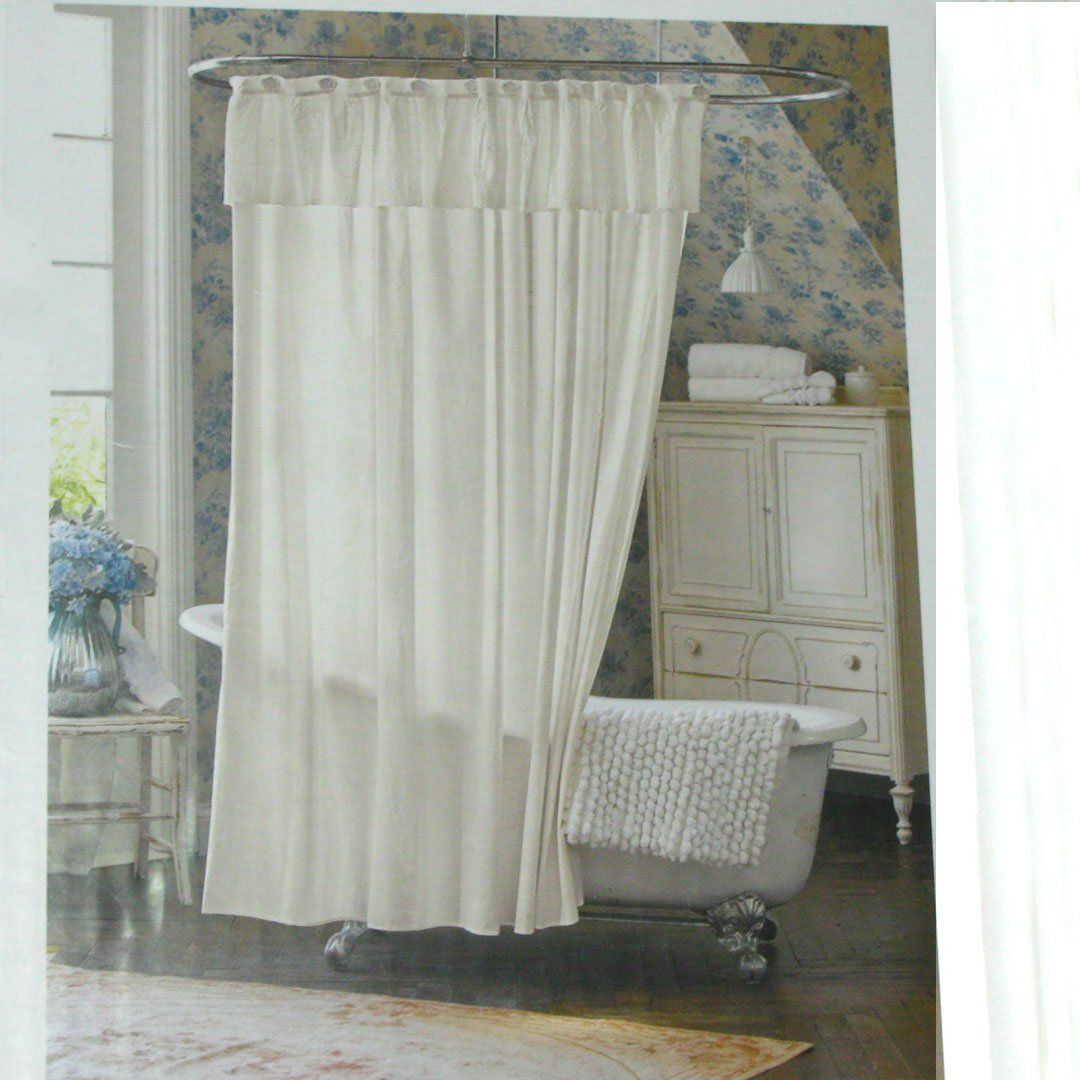Simply Shabby Chic Lace Dobby White Shower Curtain Target Target