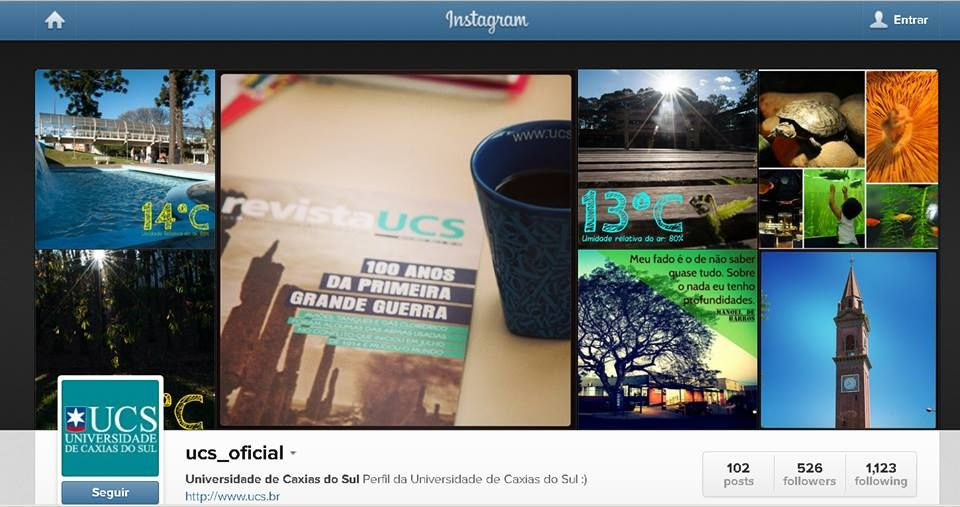 Já perceberam que adoramos fotografias? Se você também curte, siga-nos no #Instagram . http://instagram.com/ucs_oficial
