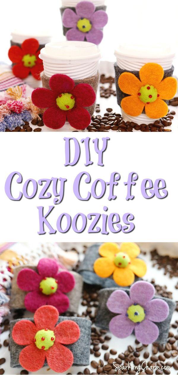 DIY Cozy Coffee Cup Koozies + Drink Sleeves Coffee cozy