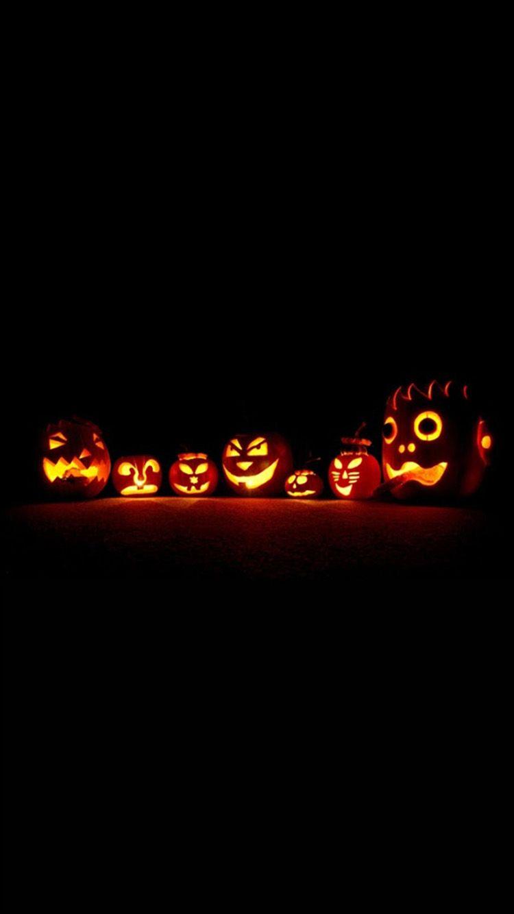 Halloween Pumpkins Glowings Iphone Wallpaper Halloween Wallpaper