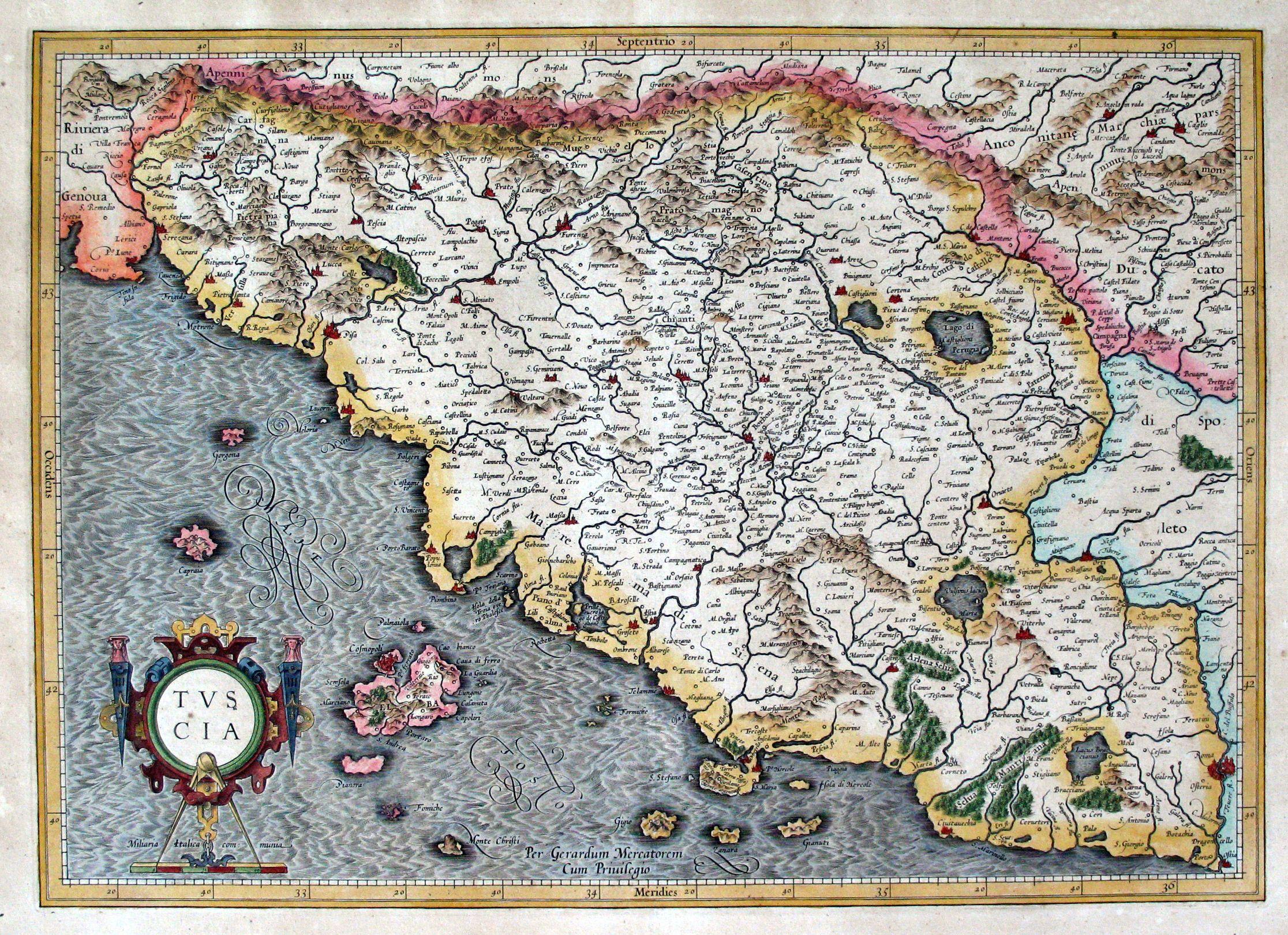E 453 Jpg Jpeg Image 2232x1620 Pixels Tuscany Map Vintage Map Map