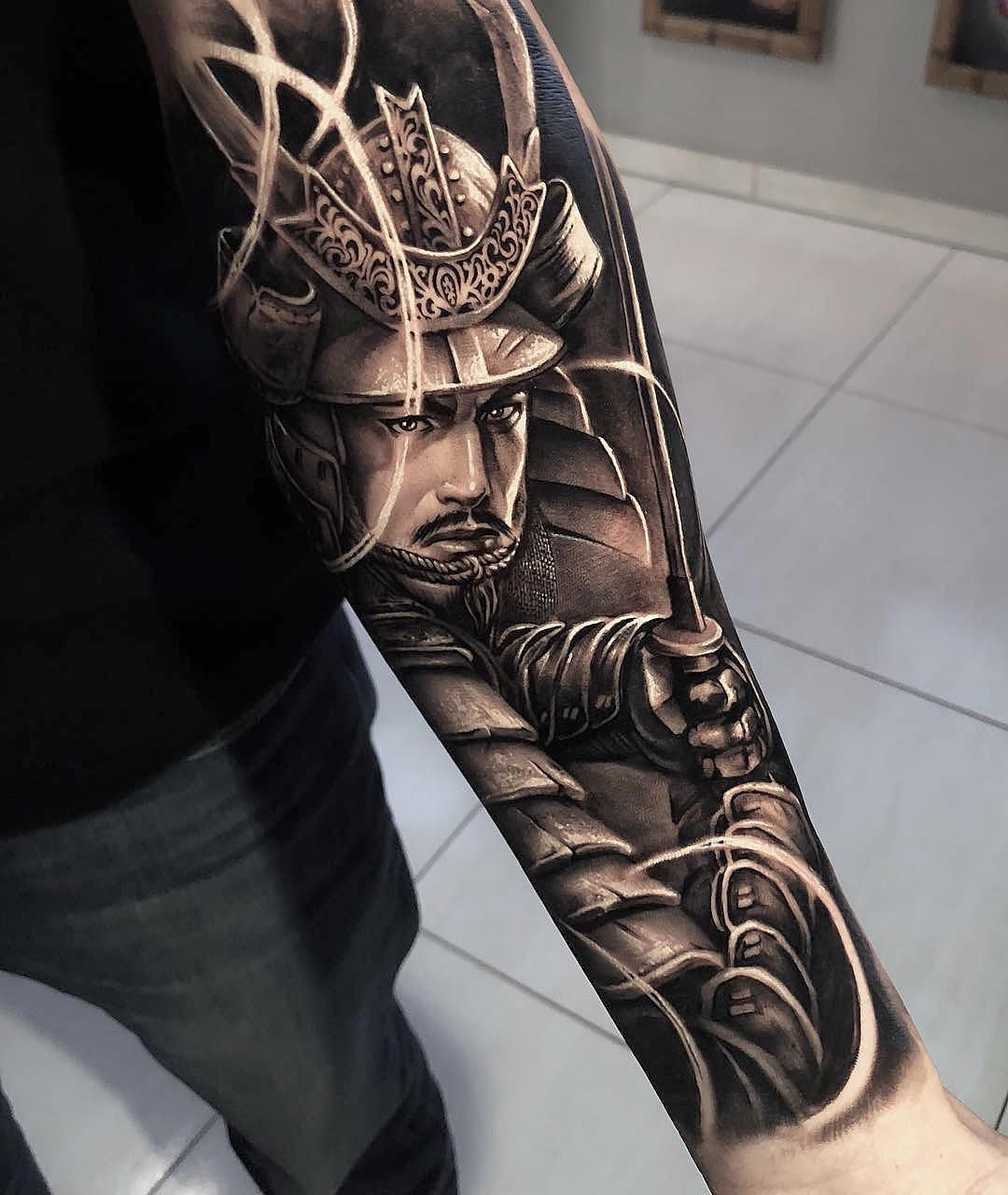 Marked for life tattoos and gangs warrior tattoo sleeve