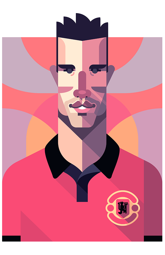 Robin Van Persie Manchester United Football Illustration Football Artwork Robin Van Persie