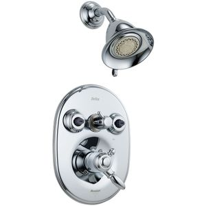 ?????    Delta Faucet DT18255/DR18224 Victorian  Custom Shower System - Chrome