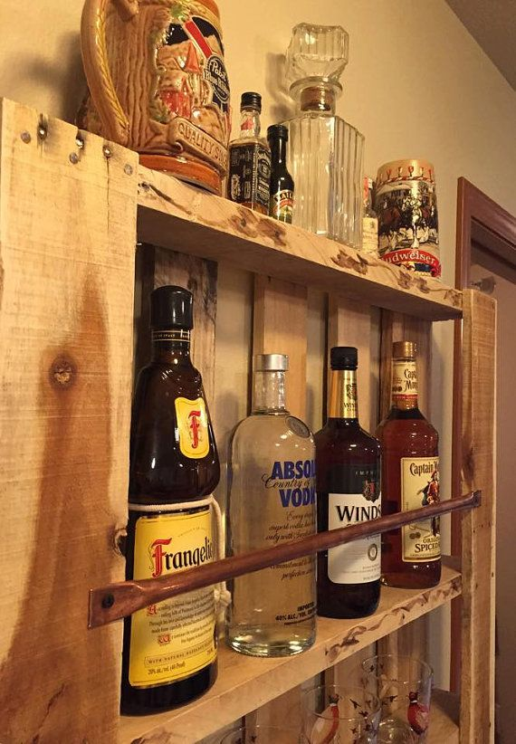 Rustic Pallet Furniture Wood Wall Shelf By