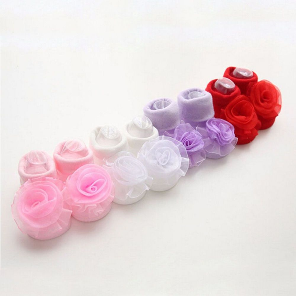 New Baby Girl Princess Lace Rose Flowers Infant Toddler Soft Cotton Sockshot JE #Unbranded #AnkleSocks