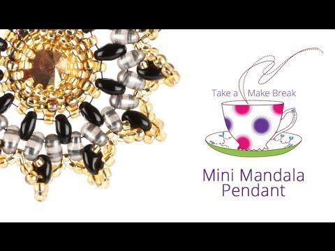 Mini Mandala Pendant | Take a Make Break with Sarah