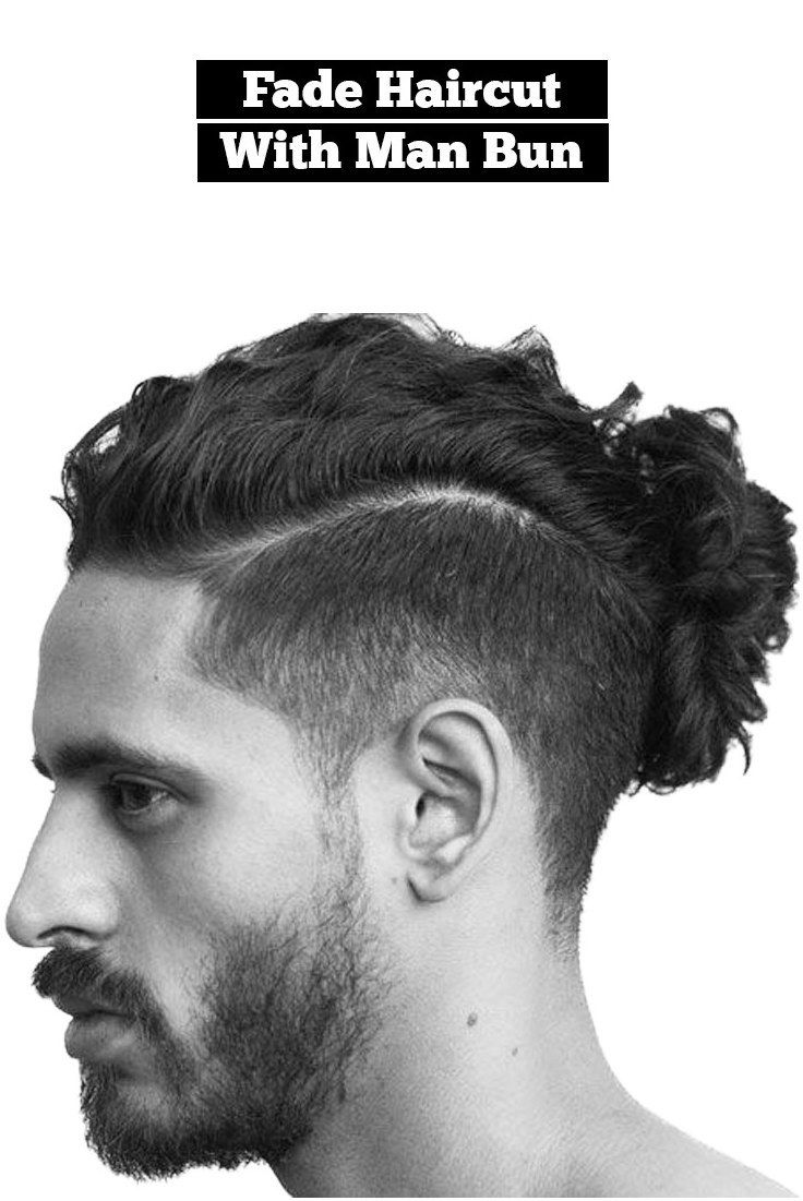 Fade hairstyle with manbun longmenshair click image for info