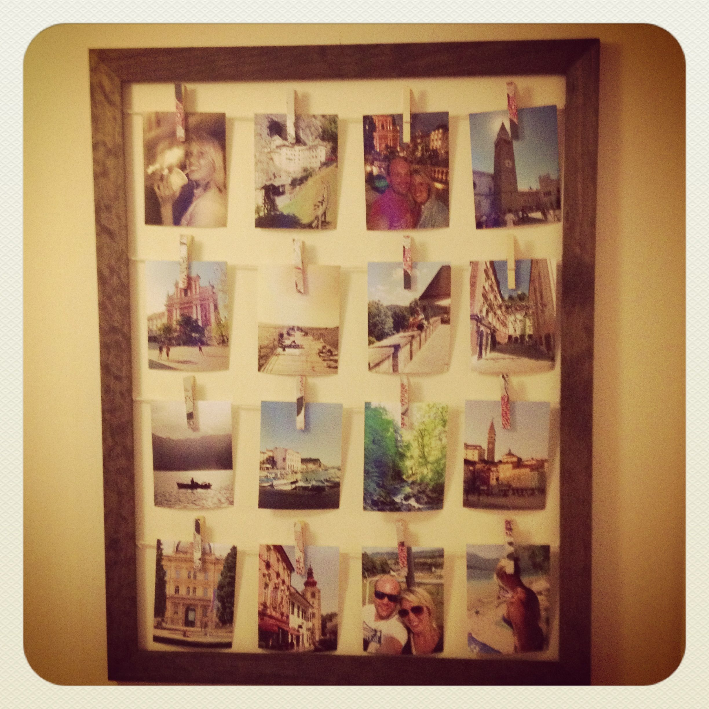 DIY wall art with an old frame | Picture ideas | Pinterest | Diy ...