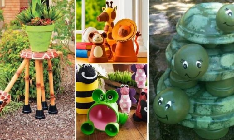 22 mod les d 39 animaux bricoler en pot de terre cuite pour d corer le jardin pots de fleurs. Black Bedroom Furniture Sets. Home Design Ideas