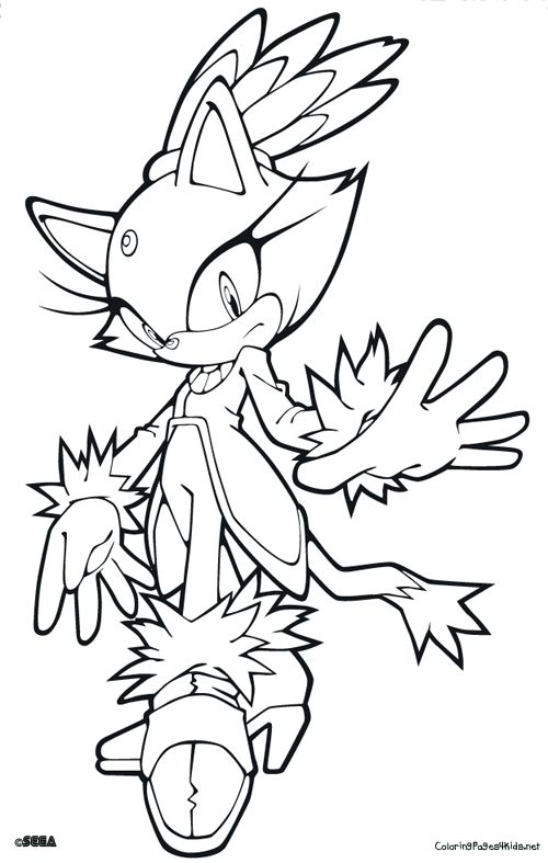 Sonic Blaze Draw Blazed Katie In 2019 Coloring Pages Free