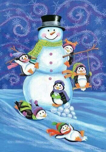 Image result for snowmen and penguins