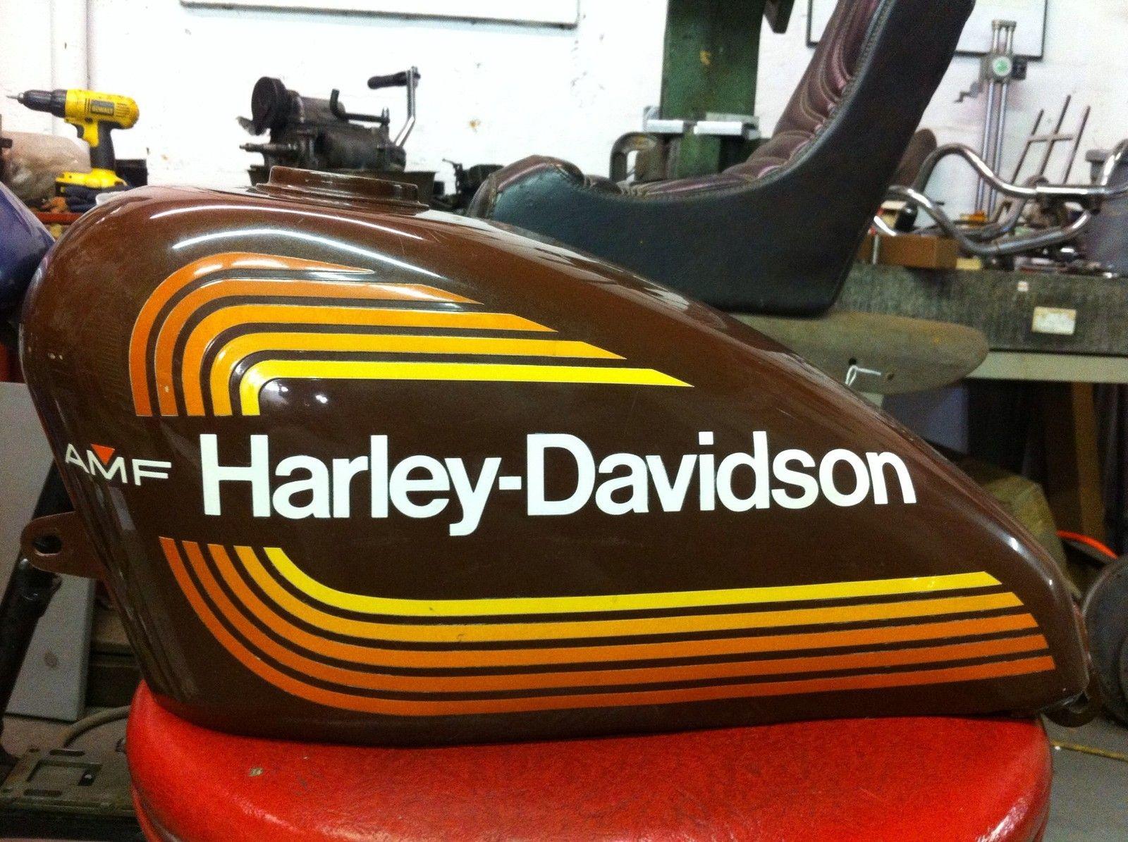 Original Harley AMF Sportster Gas Tank Chopper Bobber ...