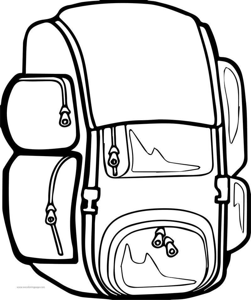 Big School Bag Coloring Page