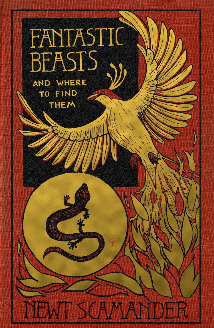 Harry Potter Book Cover Fantastic Beasts And Where To Find Them By Newt Scamander Holly Dunn Des Harry Potter Book Covers Harry Potter Props Harry Potter Art