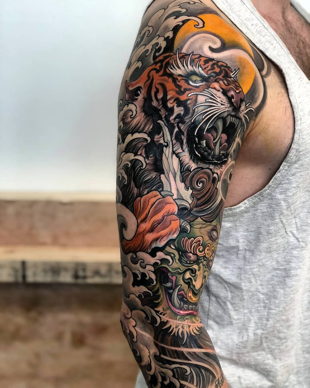 Tiger x Oni By 💥 chrishenriksen 💥 Japanese tattoo