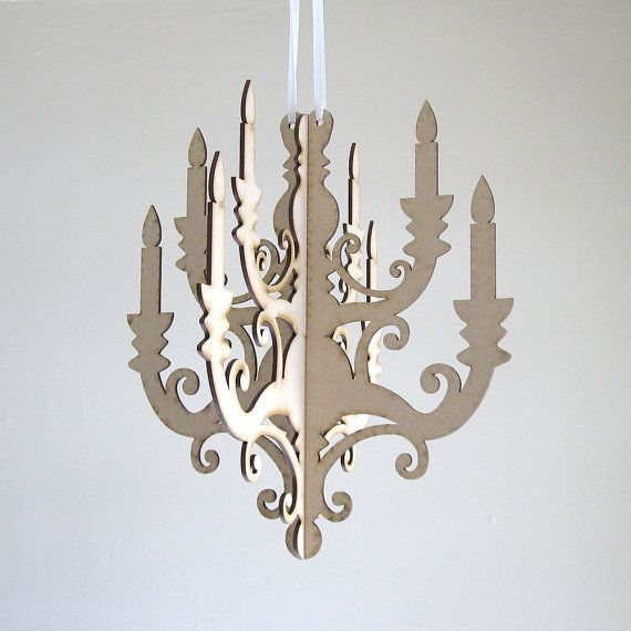 Classic Chandelier Paper Hanging Party Cardboard Lighting
