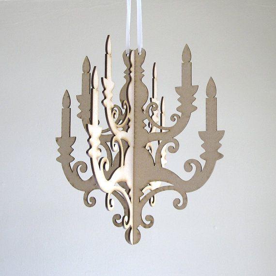 Classic Chandelier Paper Hanging Party Cardboard Lighting