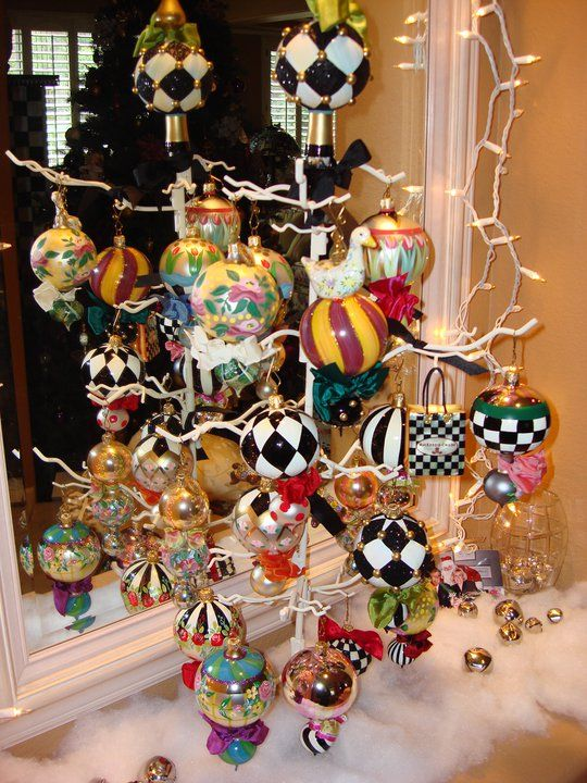 Breezy Trees: MacKenzie-Childs Christmas Ornaments: These are a few ...