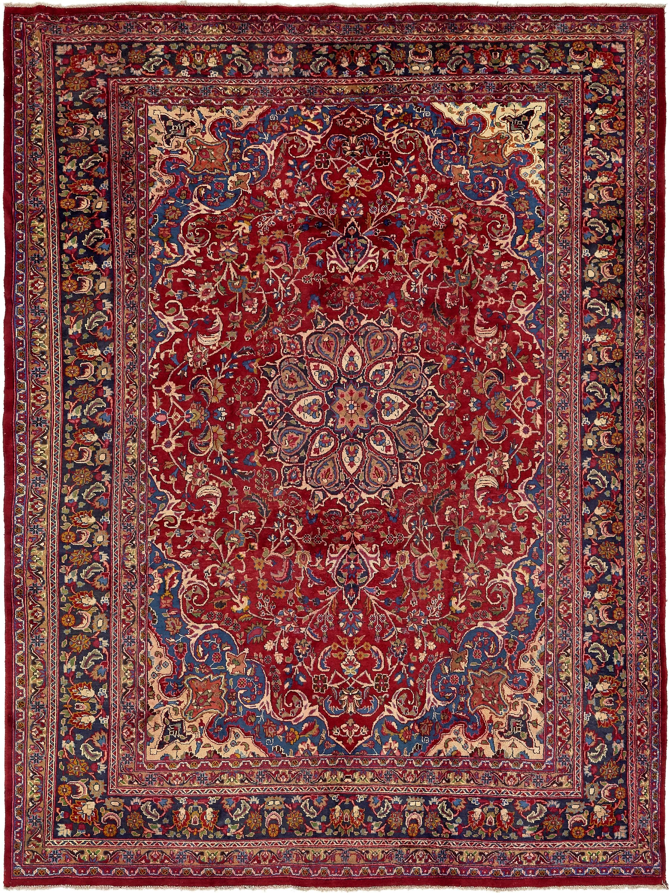 Red 9 10 X 13 Mashad Persian Rug Rugs Com Persian Rug Rugs Large Area Rugs