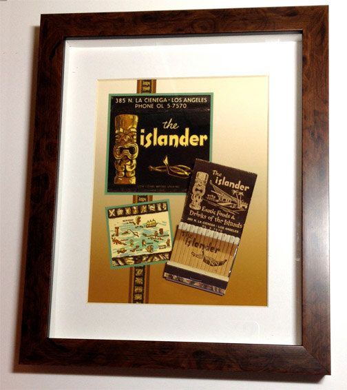 This is a collectible Tiki matchbook Wall Display - It makes a ...