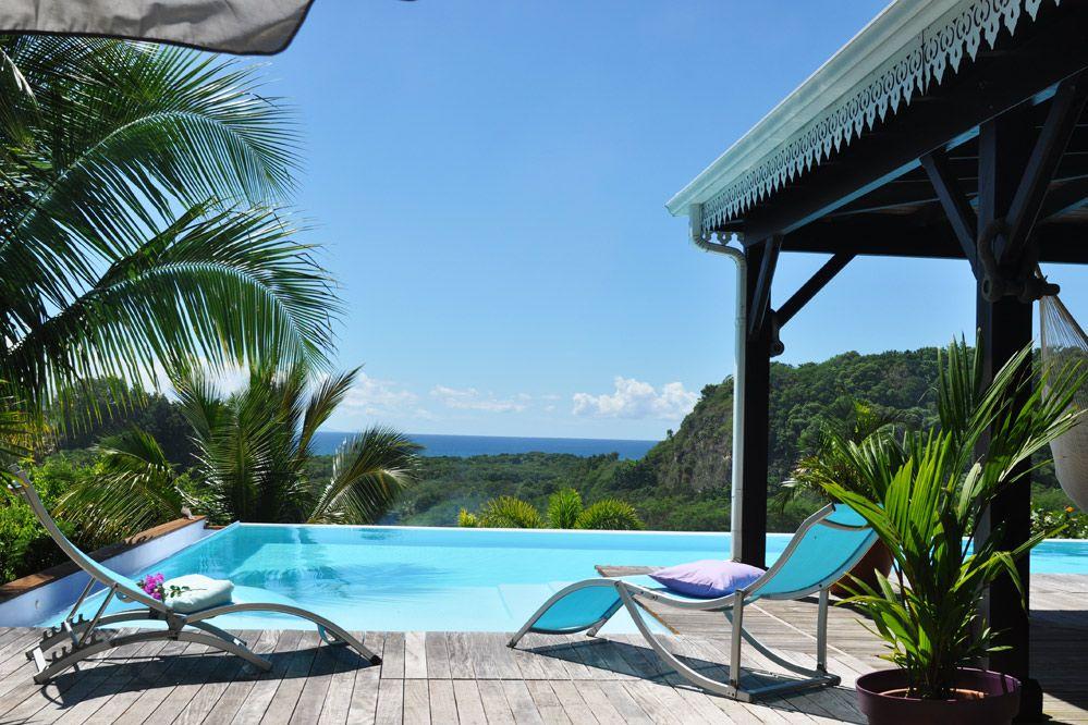 Location villa avec piscine et vue mer - Vue sur la mer Villa vue - location saisonniere avec piscine privee