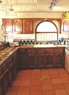 Talavera tile accents kitchen pinterest cocinas for Cocinas rusticas mexicanas