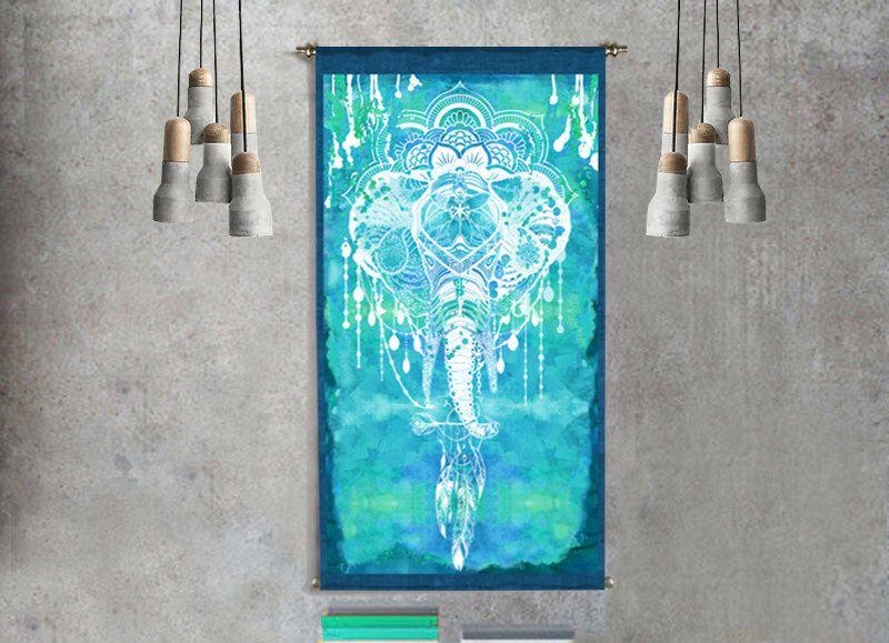 elephant decor mandala tapestry wall hanging elephant tapestry elephant art boho tapestry mandala wall art mandala print mandala art gift by ThestoryoftheFall on Etsy https://www.etsy.com/listing/491859942/elephant-decor-mandala-tapestry-wall