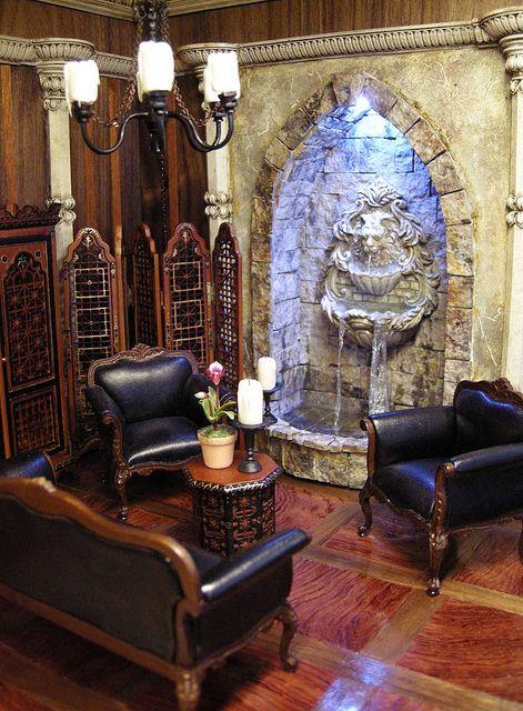 Fantasy castle room box for j bush mini dollhouse - Miniature room boxes interior design ...