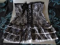 Sexy Elegant Lingerie Goth Lace-Up Corset Mini Dress 3X