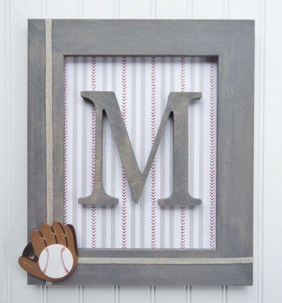 Baseball Nursery Framed Nursery Letters Frames by fabbdesigns | Fabb ...