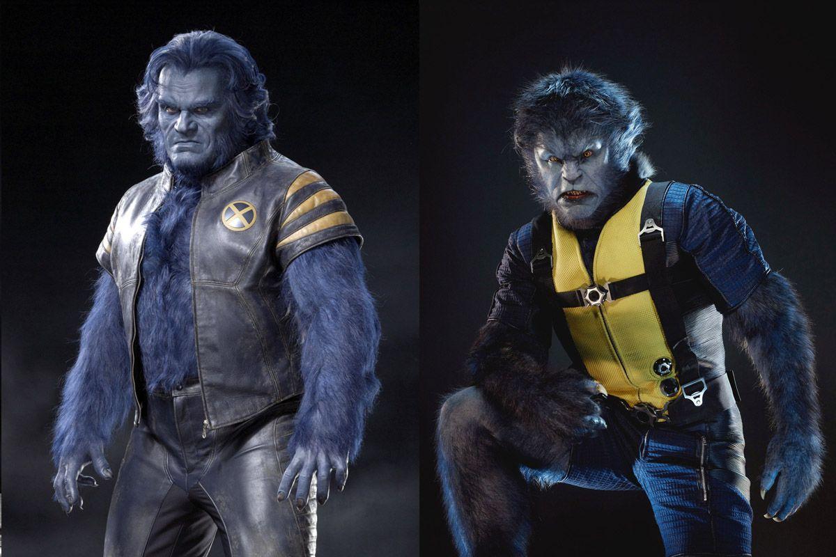 XMen Movies Beast Comparison Hoult Grammer X men