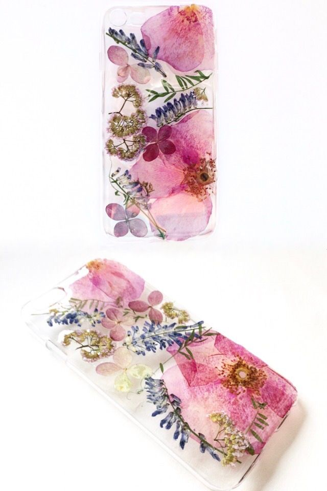 new style 51a28 74035 Pressed Flower Phone Case X Pink iPhone Galaxy Real Flower iPhone 7 ...