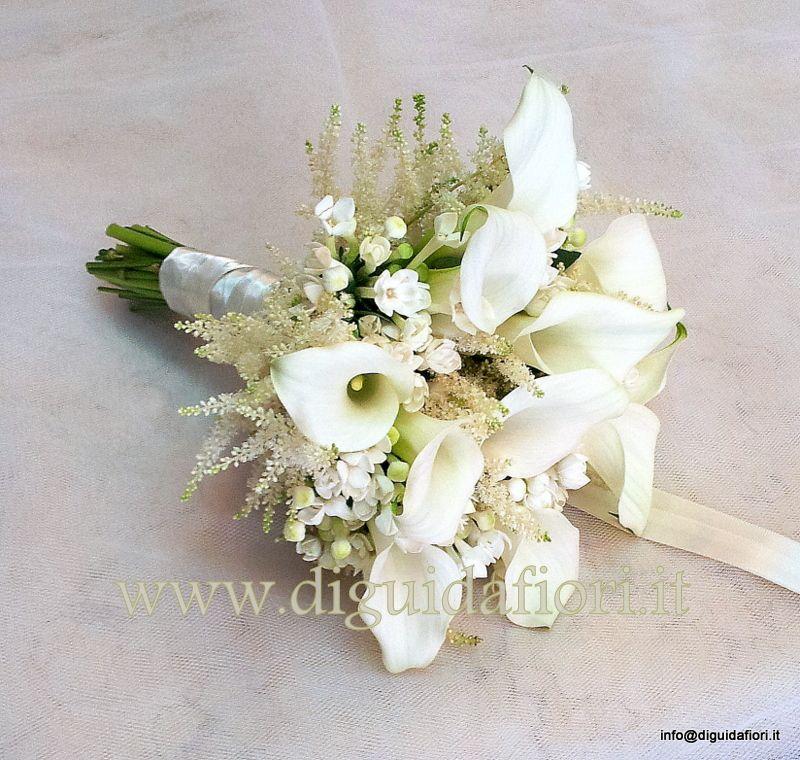 Bouquet Sposa Calle.Bouquet Da Sposa Con Calle Bouvardia E Astilbe Bouquet Da