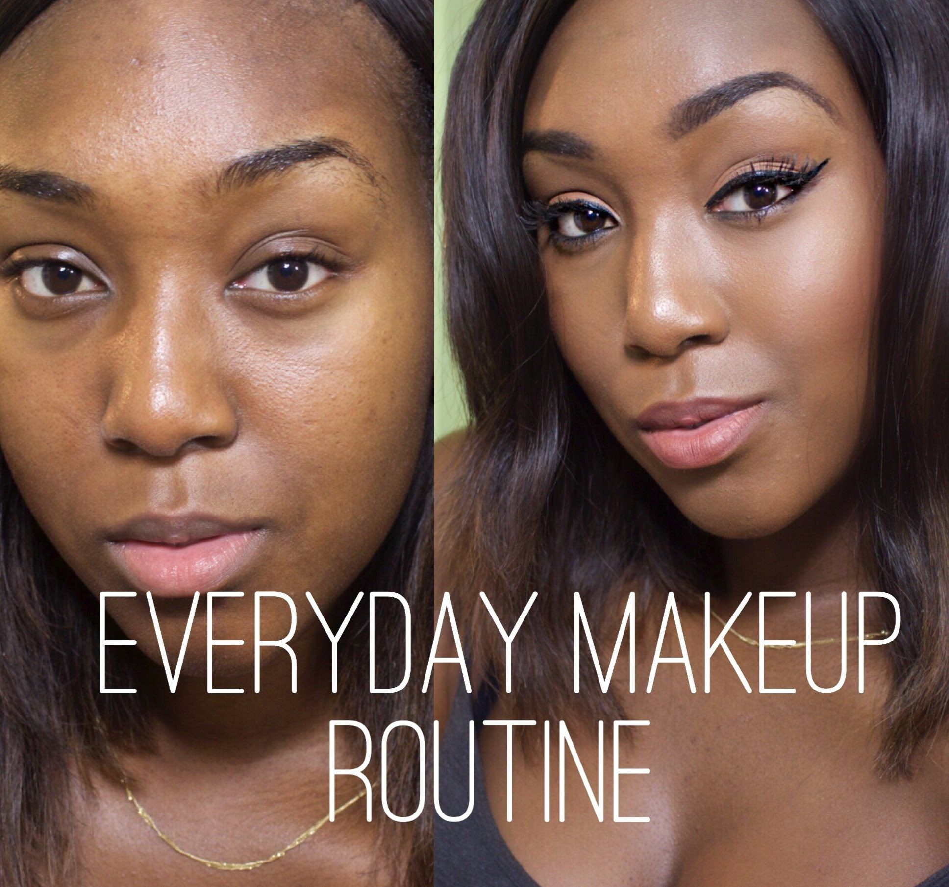 DRUGSTORE ONLY !! SIMPLE EVERYDAY MAKEUP ROUTINE FOR DARK