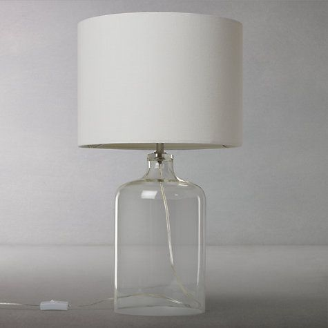 Buy john lewis croft collection william glass bottle table lamp from our desk table lamps range at john lewis