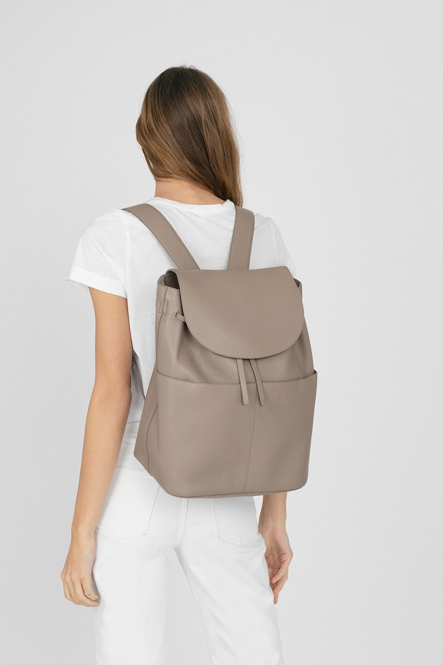 55eb6466e3 Large Leather Backpack