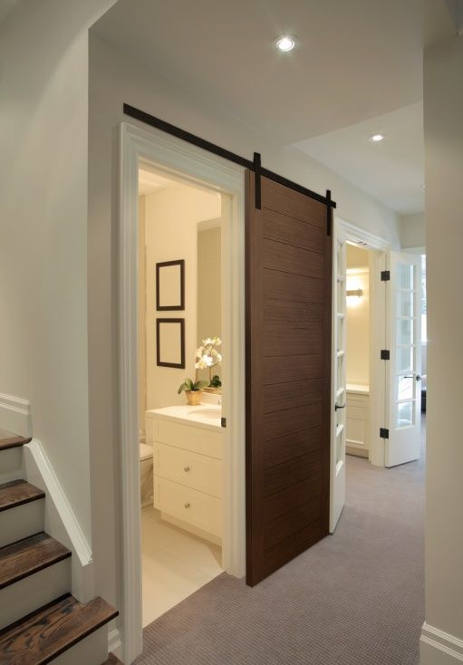 Advantages Of A Sliding Door With Images Small Half Bathrooms