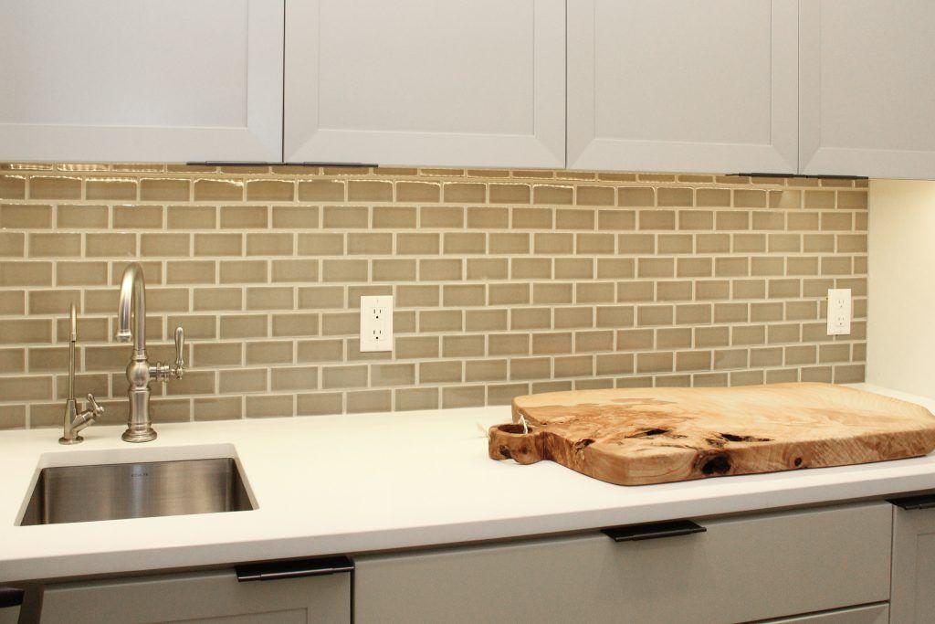 Light Green Brick Tile Kitchen Backsplash Brick Tiles Kitchen