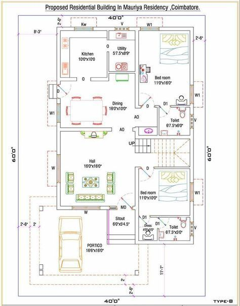House Plan Duplex House Plans 2bhk House Plan 30x40 House Plans