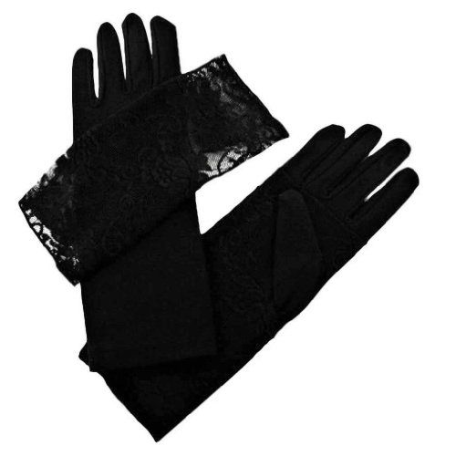 8e6c21f88 Luxury Divas Feminine Black Glove With Lace Removable Cuff >>> Continue to  the product at the image link.