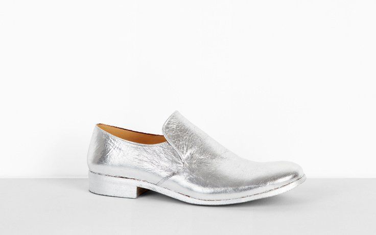 Maison Martin Margiela Men's Silver foil leather shoe F/W 2012