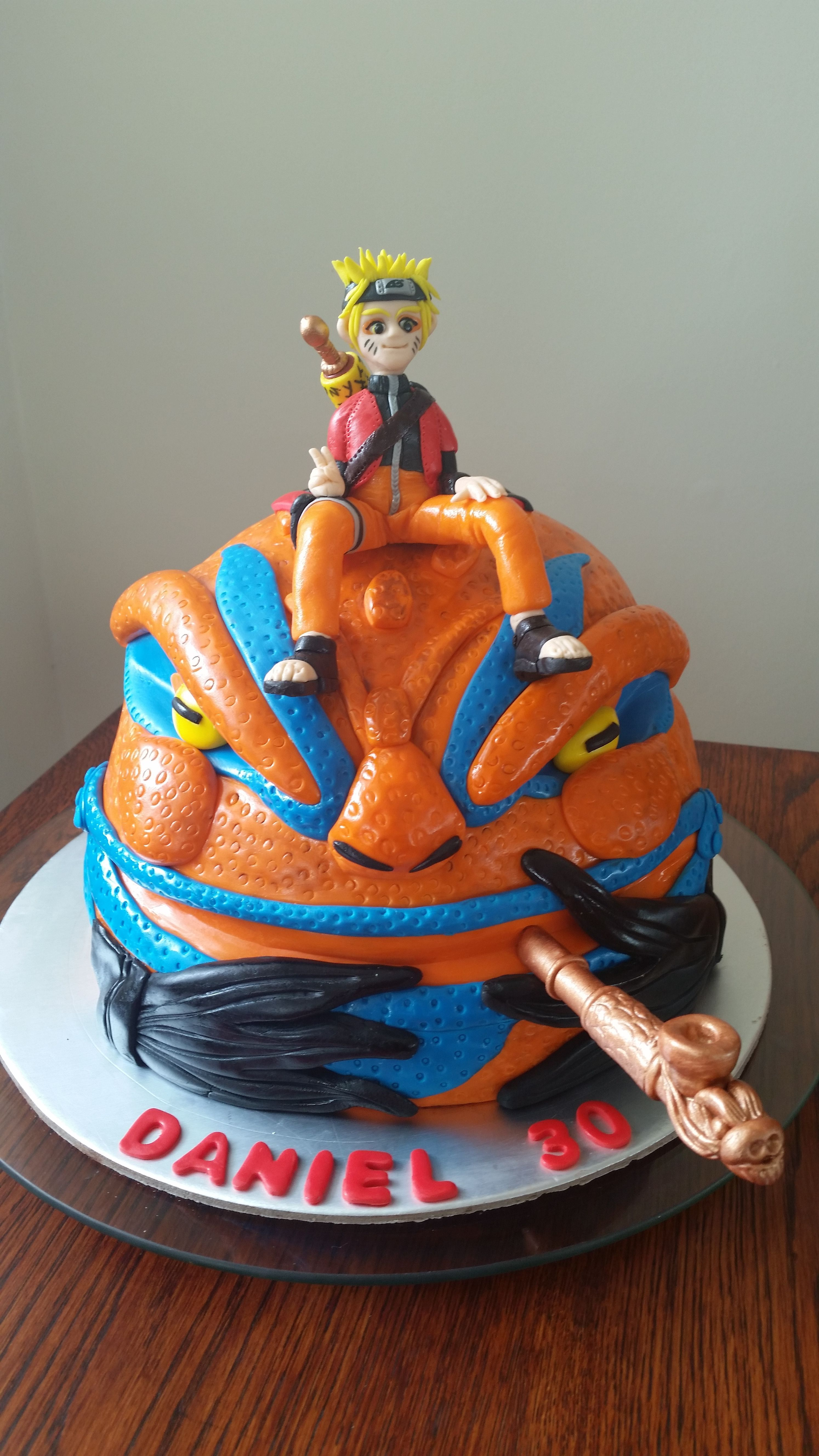 Naruto Anime Cake For Dans 30Th Anime cake, Cake, 30